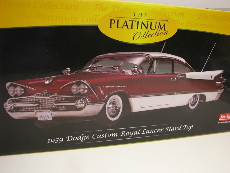 Dodge Custom Royal Lancer 1959 Hard Top Purple 1:18 Sunstar
